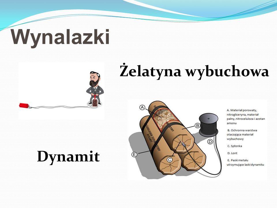 Wynalazki Żelatyna wybuchowa Dynamit