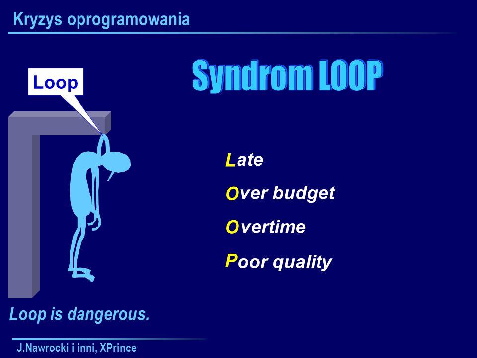 J.Nawrocki i inni, XPrince Kryzys oprogramowania LOOPLOOP ate oor quality ver budget vertime Loop Loop is dangerous.