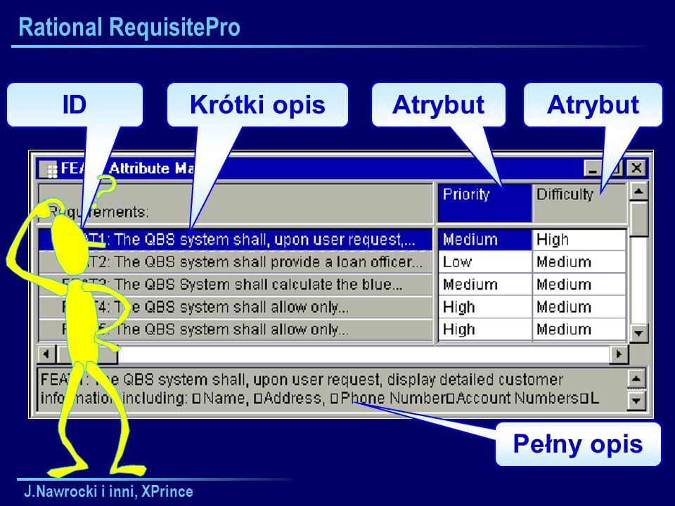 J.Nawrocki i inni, XPrince ID Pełny opis Krótki opisAtrybut Rational RequisitePro