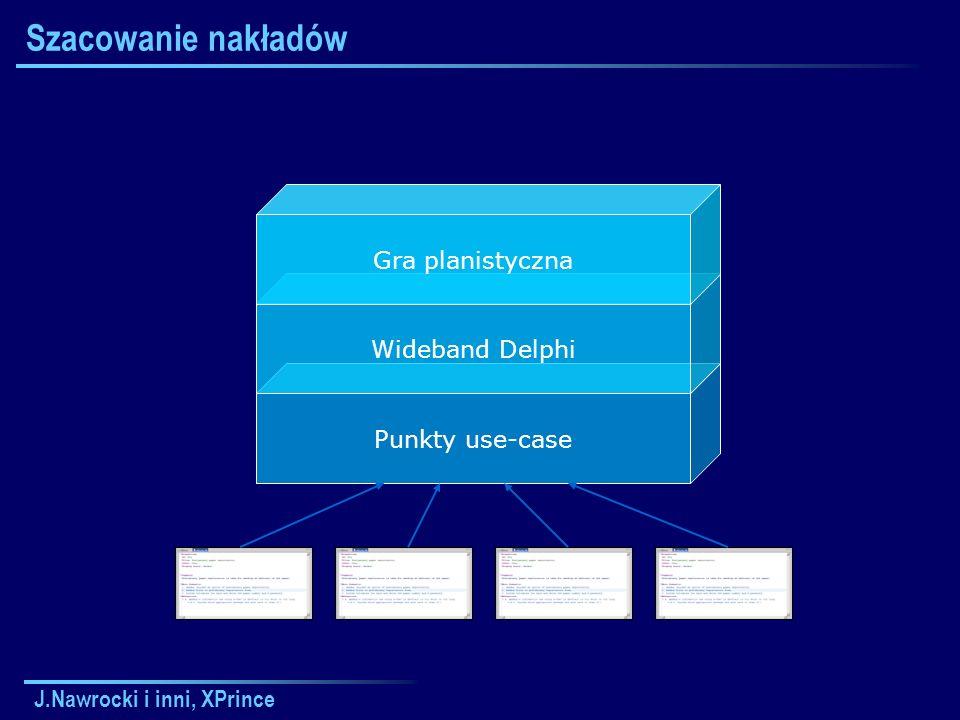 J.Nawrocki i inni, XPrince Szacowanie nakładów Punkty use-case Wideband Delphi Gra planistyczna