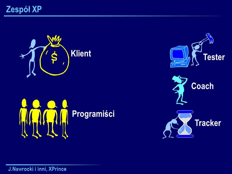 J.Nawrocki i inni, XPrince Zespół XP Klient Coach Tracker Tester Programiści