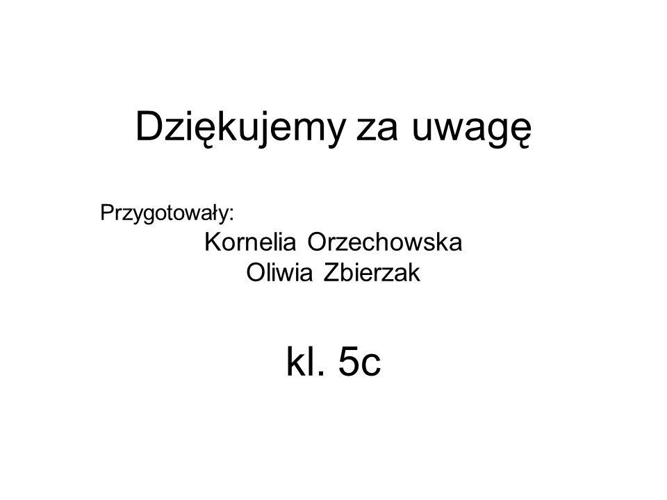 Dziękujemy za uwagę Przygotowały: Kornelia Orzechowska Oliwia Zbierzak kl. 5c