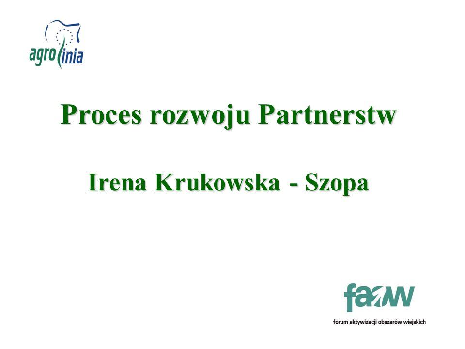 Proces rozwoju Partnerstw Irena Krukowska - Szopa