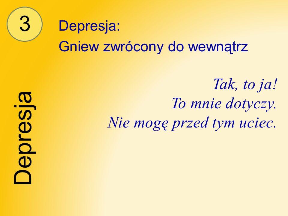 3 Depresja Depresja: Gniew zwrócony do wewnątrz Tak, to ja.