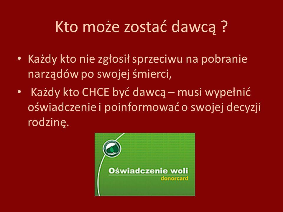 Przeszczep może spotkać każdego… Arkadiusz Onyszko Przemysław Saleta Nergal Agata Mróz