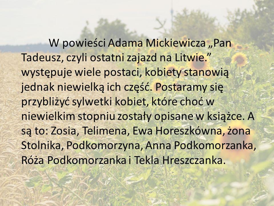 """Kobiety w """"Panu Tadeuszu"""" Adama Mickiewicza"""