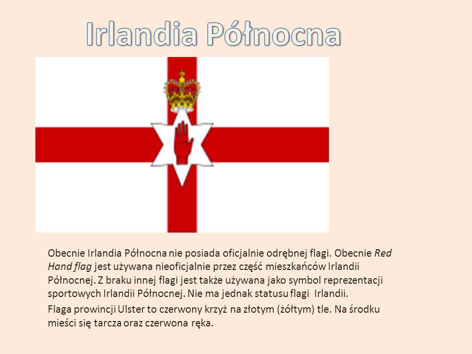 Obecnie Irlandia Północna nie posiada oficjalnie odrębnej flagi.