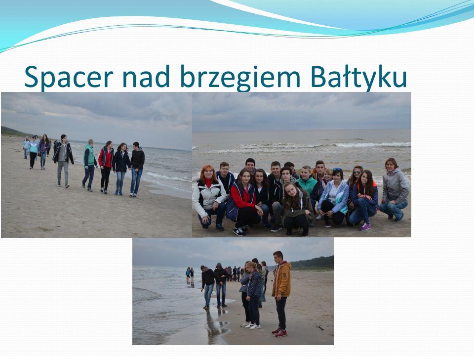 Spacer nad brzegiem Bałtyku