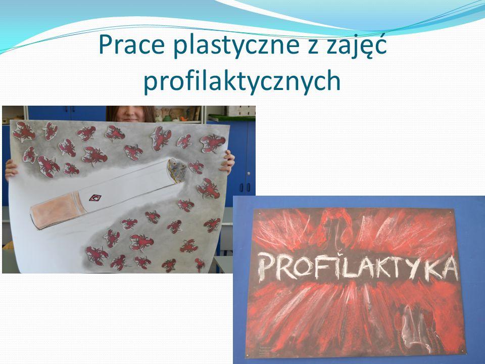 Prace plastyczne z zajęć profilaktycznych