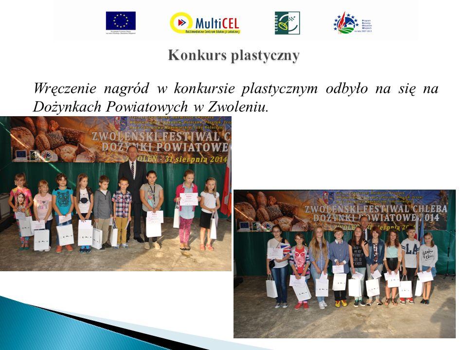 Wręczenie nagród w konkursie plastycznym odbyło na się na Dożynkach Powiatowych w Zwoleniu.