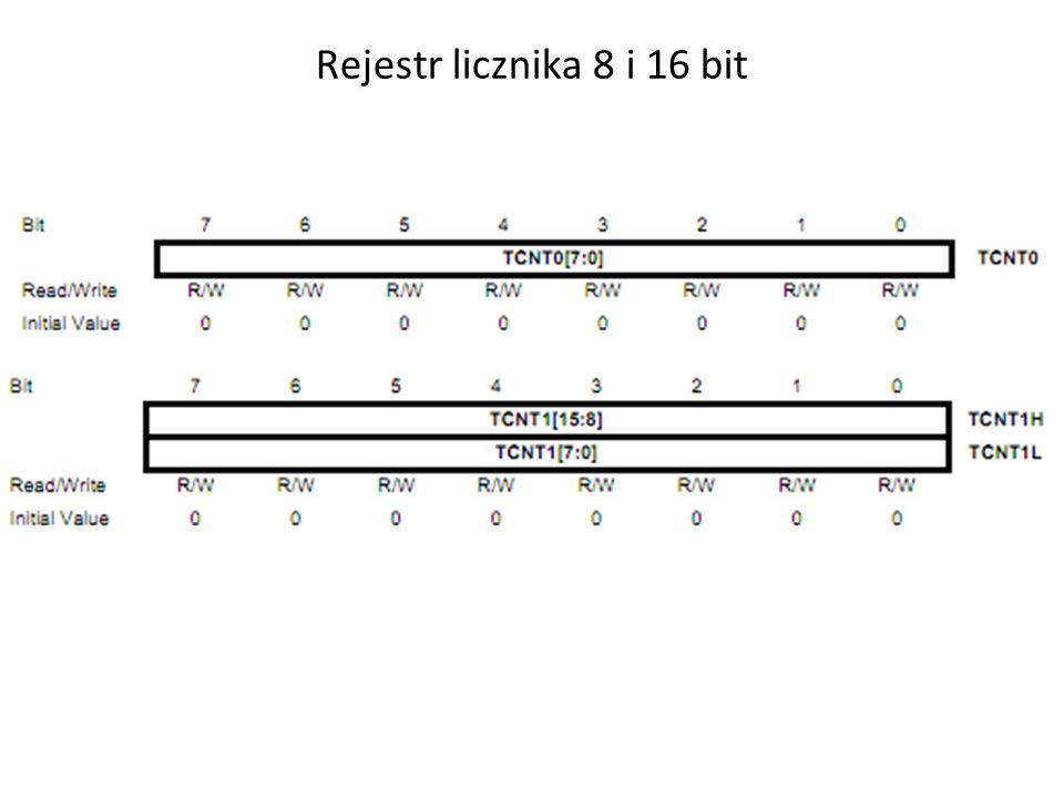 Rejestr licznika 8 i 16 bit