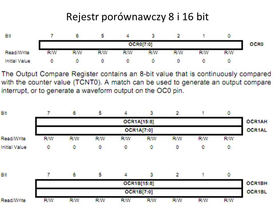 Rejestr porównawczy 8 i 16 bit