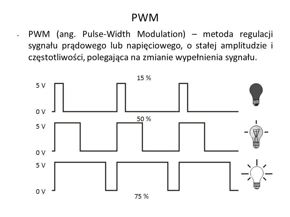 PWM (ang. Pulse-Width Modulation) – metoda regulacji sygnału prądowego lub napięciowego, o stałej amplitudzie i częstotliwości, polegająca na zmianie
