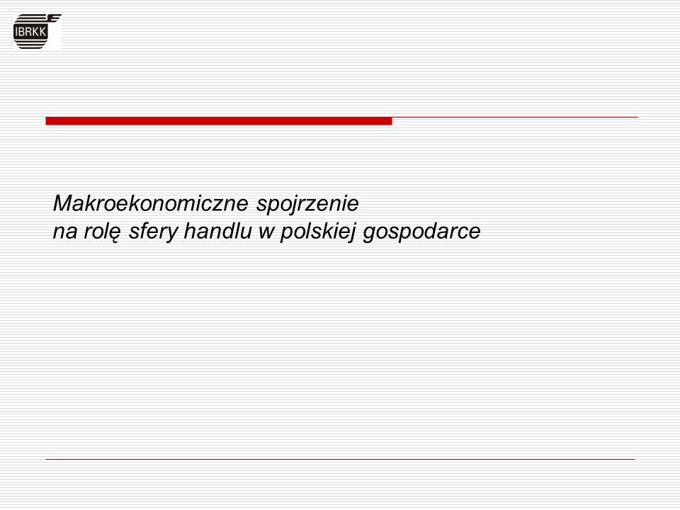 Makroekonomiczne spojrzenie na rolę sfery handlu w polskiej gospodarce