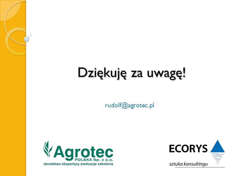 Dziękuję za uwagę! rudolf@agrotec.pl