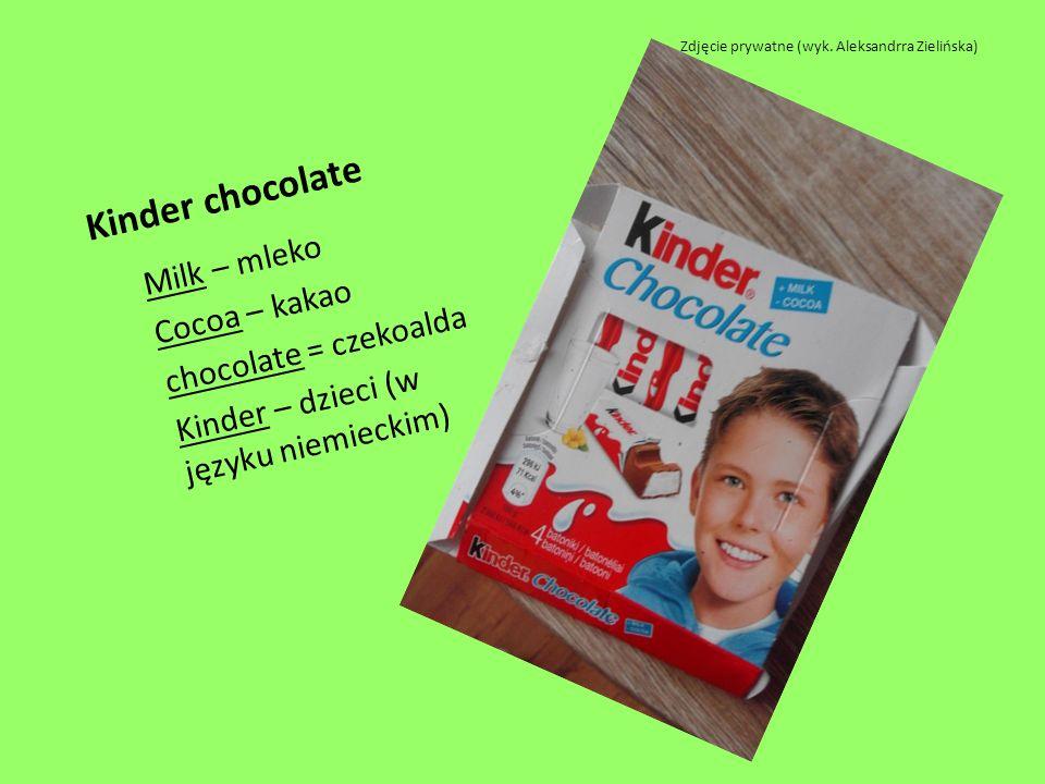 Kinder chocolate Zdjęcie prywatne (wyk.