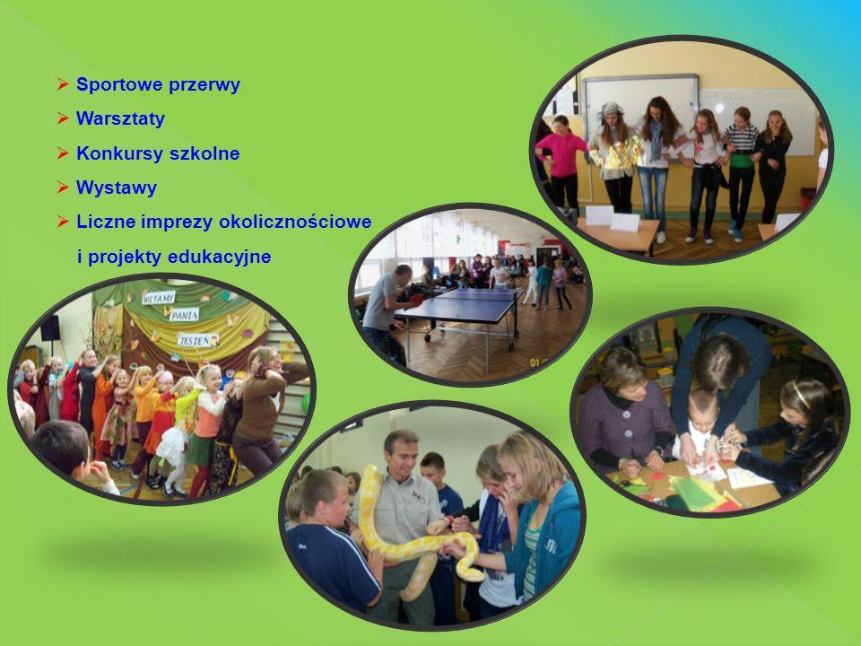 JESTESMY SZKOŁĄ PROMUJACĄ ZDROWIE Bierzemy udział w programach i projektach :  Owoce w szkole  Szklanka mleka  Śniadanie Daje Moc