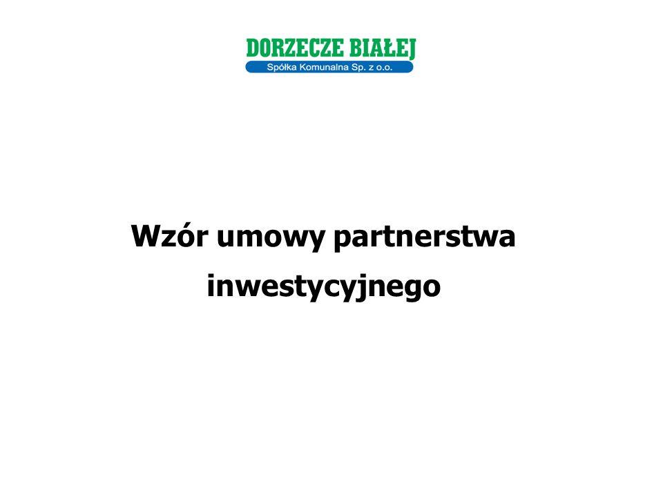 Wzór umowy partnerstwa inwestycyjnego