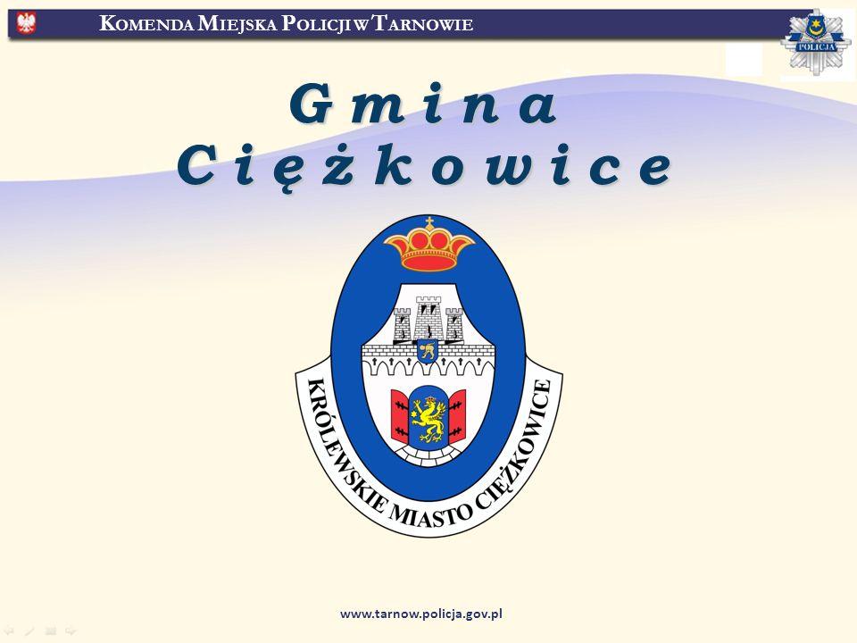 K OMENDA M IEJSKA P OLICJI W T ARNOWIE www.tarnow.policja.gov.pl Gmina Ciężkowice