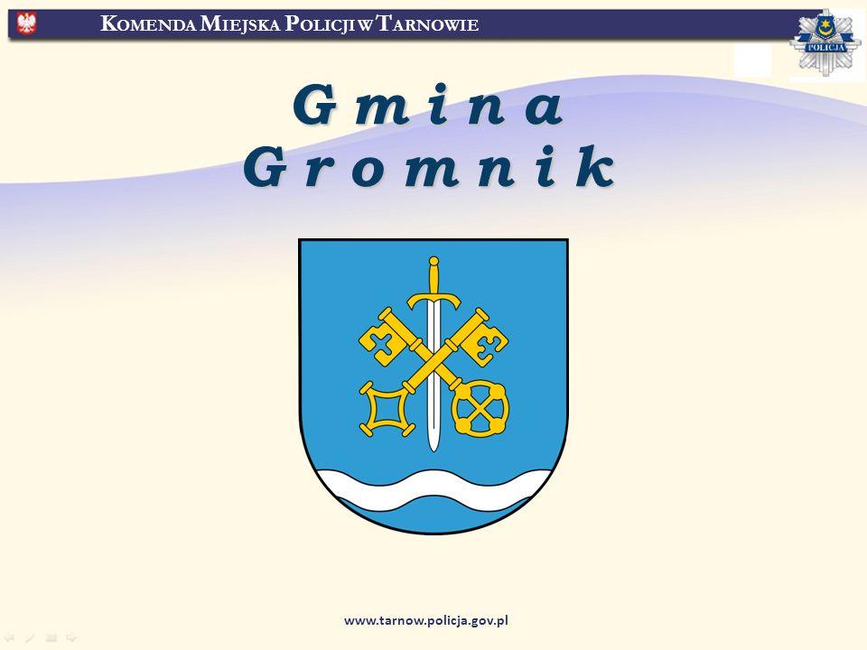 K OMENDA M IEJSKA P OLICJI W T ARNOWIE www.tarnow.policja.gov.pl GminaGromnik