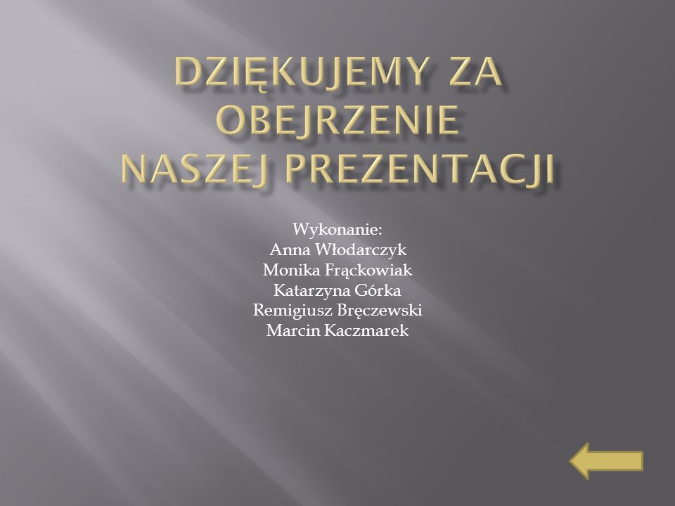 Wykonanie: Anna Włodarczyk Monika Frąckowiak Katarzyna Górka Remigiusz Bręczewski Marcin Kaczmarek