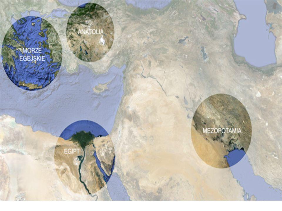 Nowe Państwo (około 1550 - 1075 p.n.e.) * Zjednoczenie Egiptu przez władców Teb * Panowanie Totmesa I - podbój państwa Kusz (po IV kataraktę) - wyprawa do Syrii - dotarcie do Eufratu - wzrost znaczenia Memfis * Rozkwit budownictwa grobowców w Dolinie Królów * Powstanie wielkiej świątyni królowej Hatszepsut  Pokonanie przez Totmesa III państwa Mitanni oraz opanowanie Syrii, Palestyny, dotarcie do Eufratu – szczyt potęgi państwa  Próba wprowadzenia religii monoteistycznej (Aton) przez Amenhotepa IV Echnatona  Przywrócenie tradycyjnej religii przez Tutanchamona  Panowanie Ramzesa II - podział stref wpływów z Hetytami w Syrii) ( bitwa pod Kadesz 1274 r.