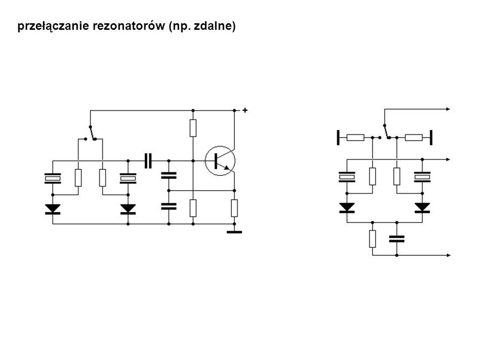 przełączanie rezonatorów (np. zdalne)