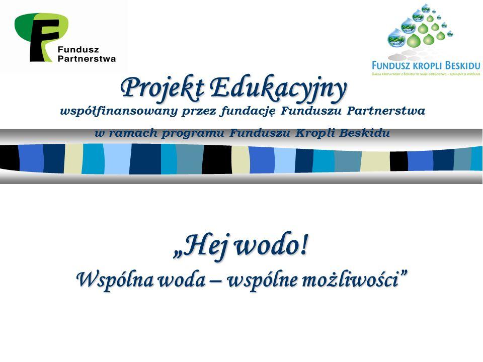 """Projekt Edukacyjny """"Hej wodo."""