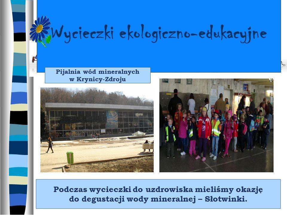 Wycieczki ekologiczno-edukacyjne Podczas wycieczki do uzdrowiska mieliśmy okazję do degustacji wody mineralnej – Słotwinki.