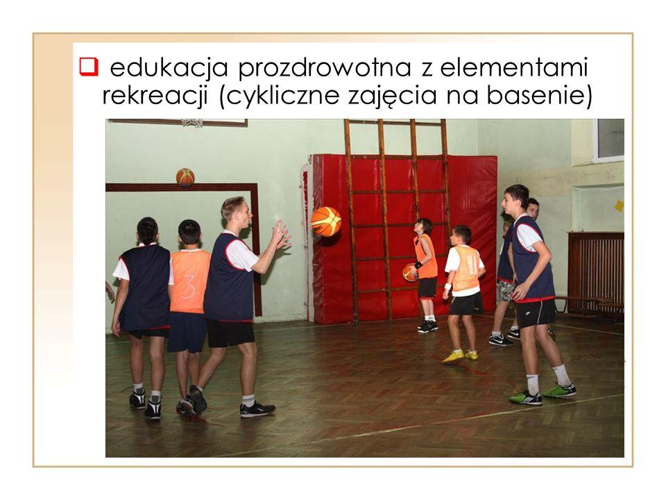  edukacja prozdrowotna z elementami rekreacji (cykliczne zajęcia na basenie)