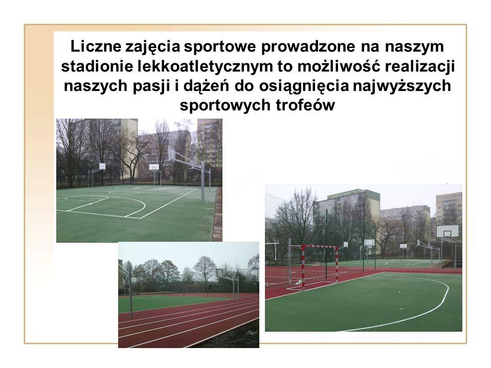 Liczne zajęcia sportowe prowadzone na naszym stadionie lekkoatletycznym to możliwość realizacji naszych pasji i dążeń do osiągnięcia najwyższych sportowych trofeów