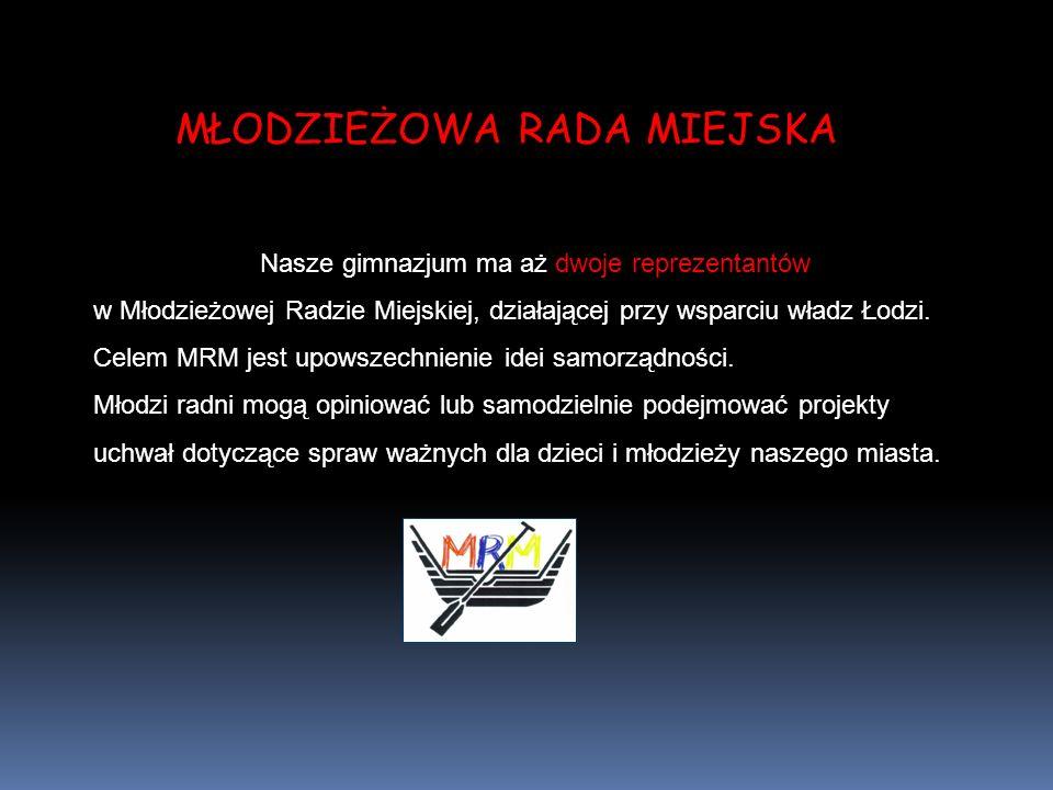 Nasze gimnazjum ma aż dwoje reprezentantów w Młodzieżowej Radzie Miejskiej, działającej przy wsparciu władz Łodzi.