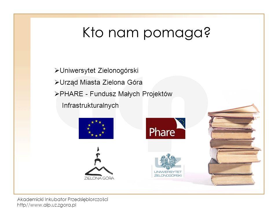 Akademicki Inkubator Przedsiębiorczości http//www.aip.uz.zgora.pl Kto nam pomaga.