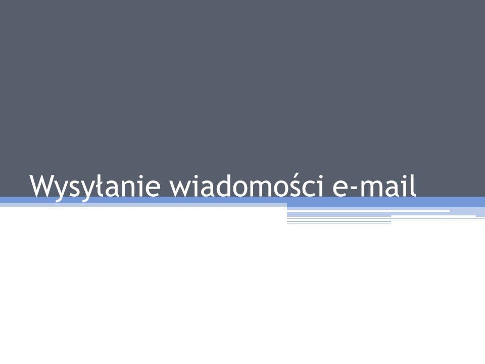 Wysyłanie wiadomości e-mail