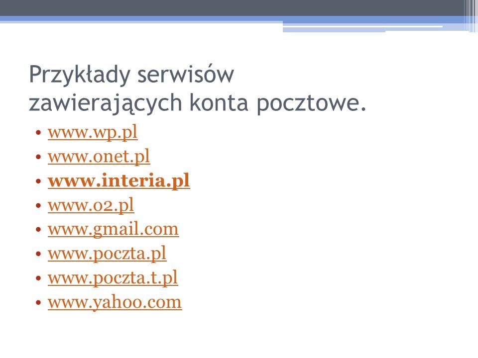 Zakładanie konta internetowego www.interia.pl  www.poczta.interia.plwww.interia.pl www.poczta.interia.pl