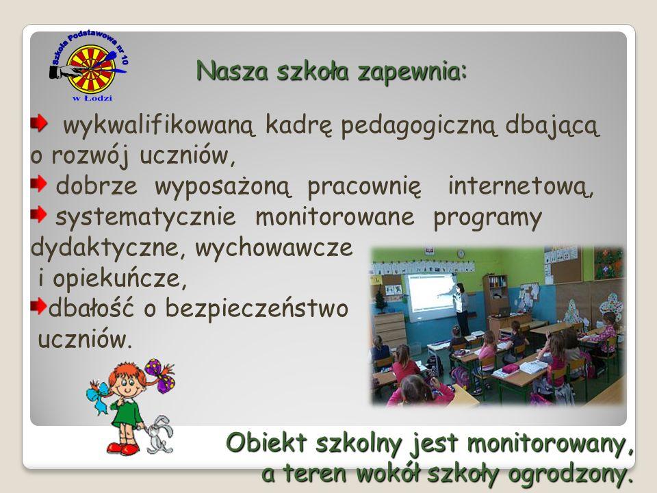Nasza szkoła zapewnia: wykwalifikowaną kadrę pedagogiczną dbającą o rozwój uczniów, dobrze wyposażoną pracownię internetową, systematycznie monitorowa