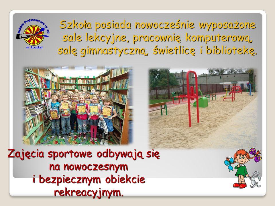Szkoła posiada nowocześnie wyposażone sale lekcyjne, pracownię komputerową, salę gimnastyczną, świetlicę i bibliotekę. Zajęcia sportowe odbywają się n