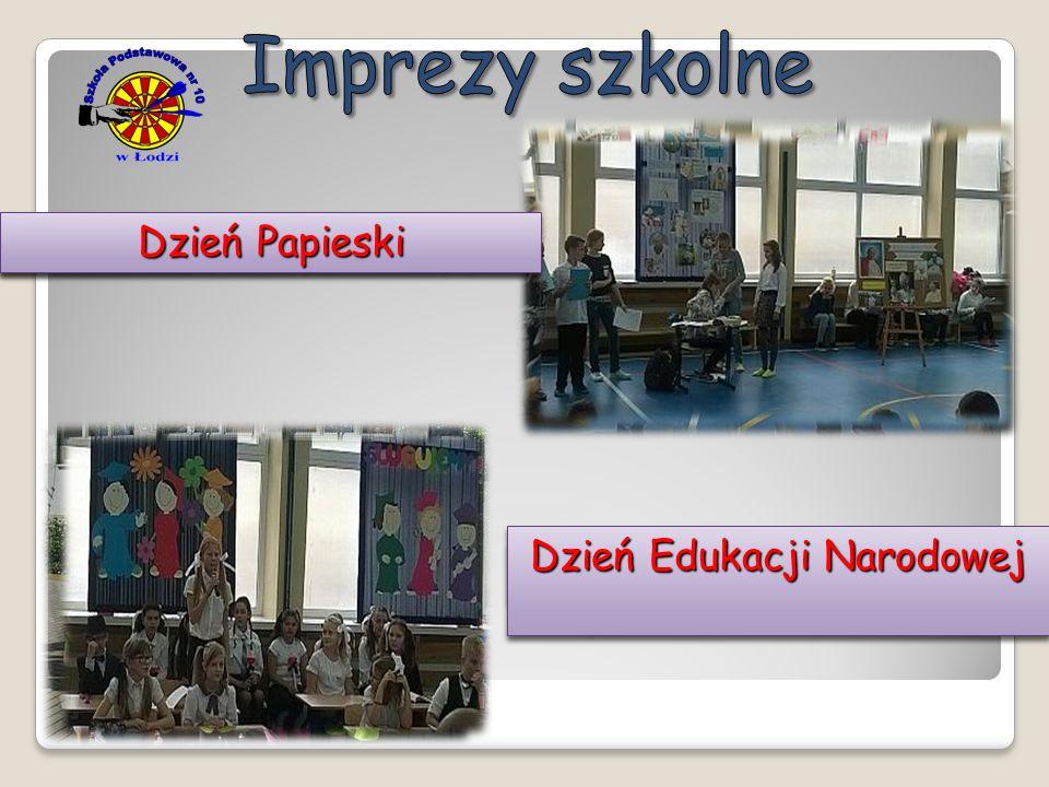 Ślubowanie klas pierwszych Piknik rodzinny Spotkanie z p. Adamem Kszczotem Spotkanie Światowy Dzień Muzyki Dzień Edukacji Narodowej Dzień Papieski
