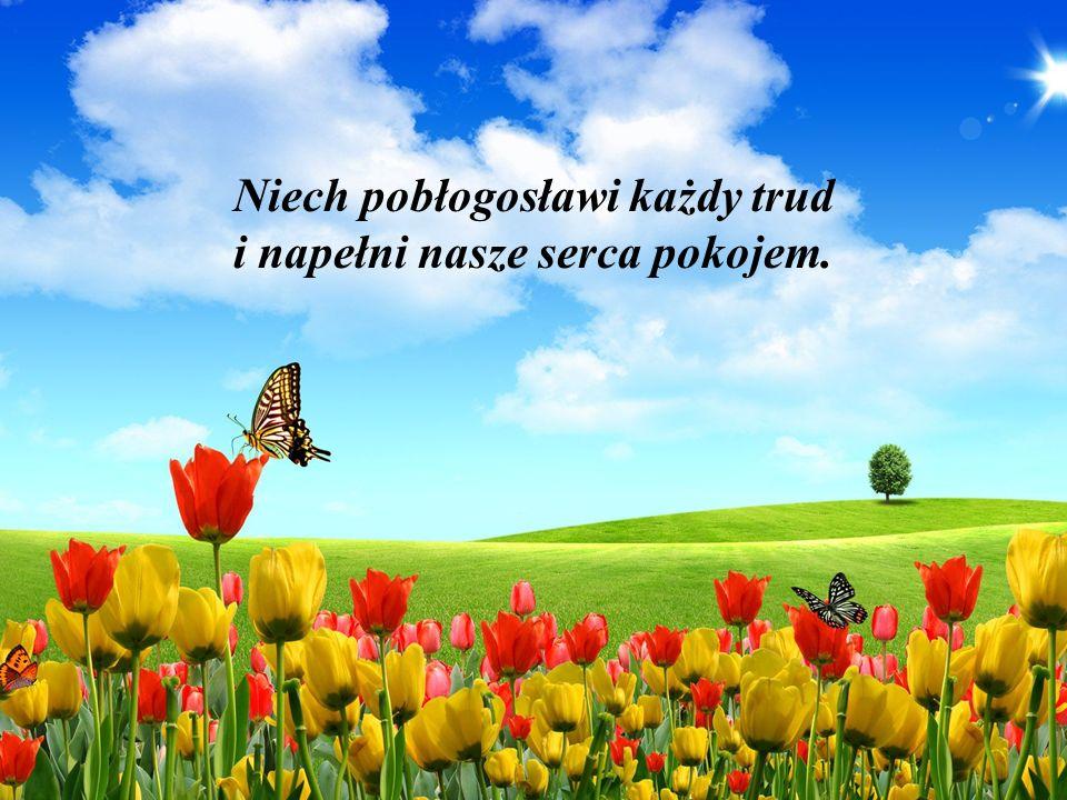 Niech pobłogosławi każdy trud i napełni nasze serca pokojem.