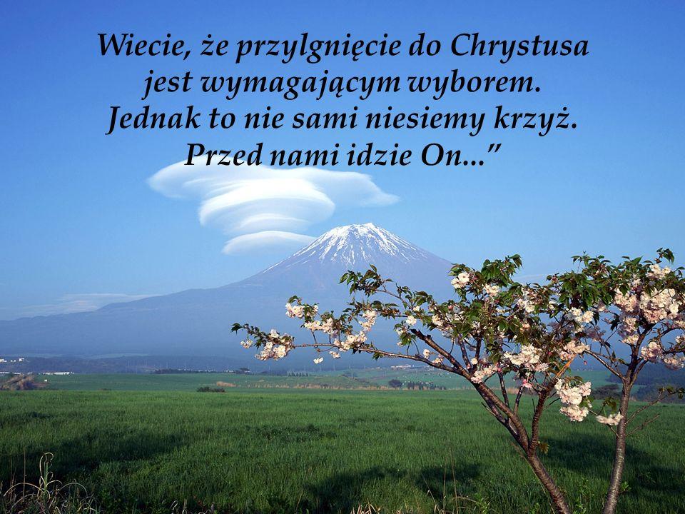 Wiecie, że przylgnięcie do Chrystusa jest wymagającym wyborem.
