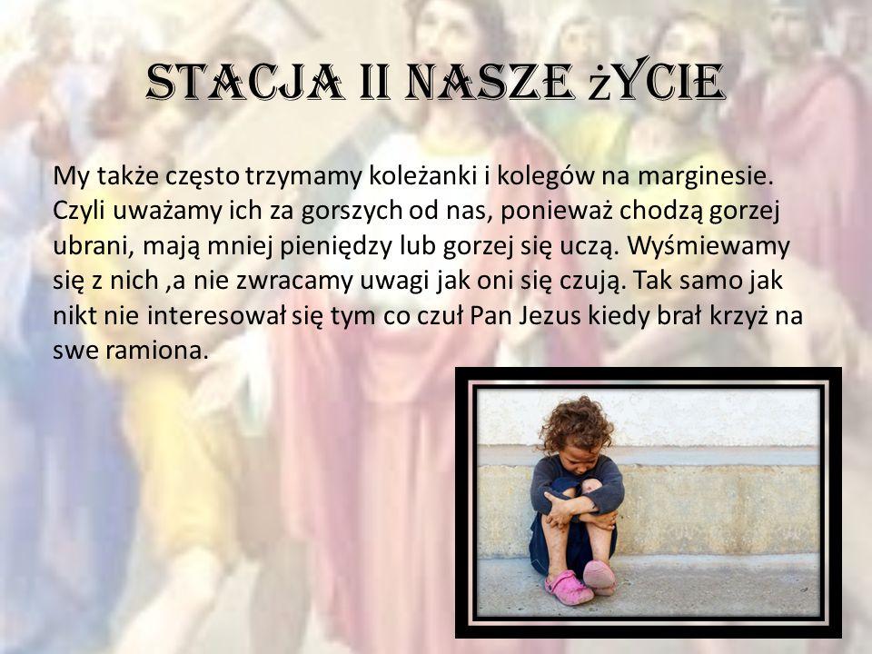 Droga krzyżowa w moim życiu W szkole pani poinformowała dzieci że ich kolega Jacek leży w szpitalu.
