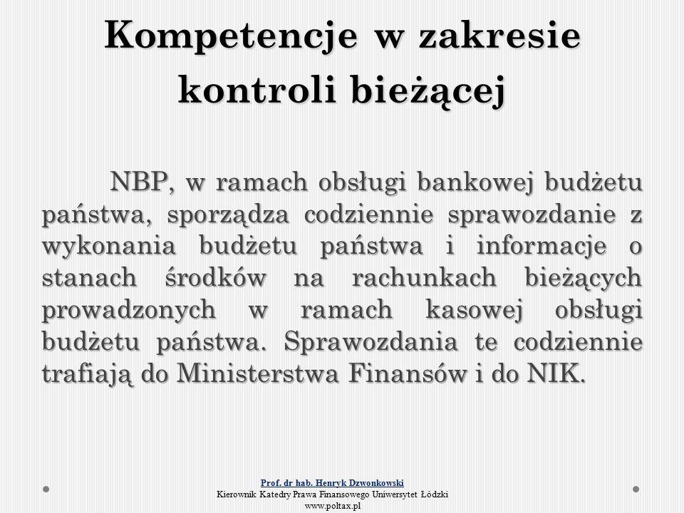 Kontrola wykonywana przez dysponentów budżetowych Dzięki sprawozdawczości dysponentów wydatków budżetowych Minister Finansów dysponuje na bieżąco informacjami na temat stopnia realizacji budżetu państwa.
