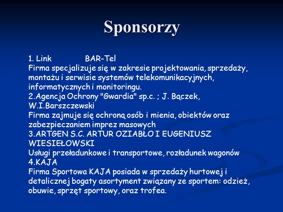 Sponsorzy 1.