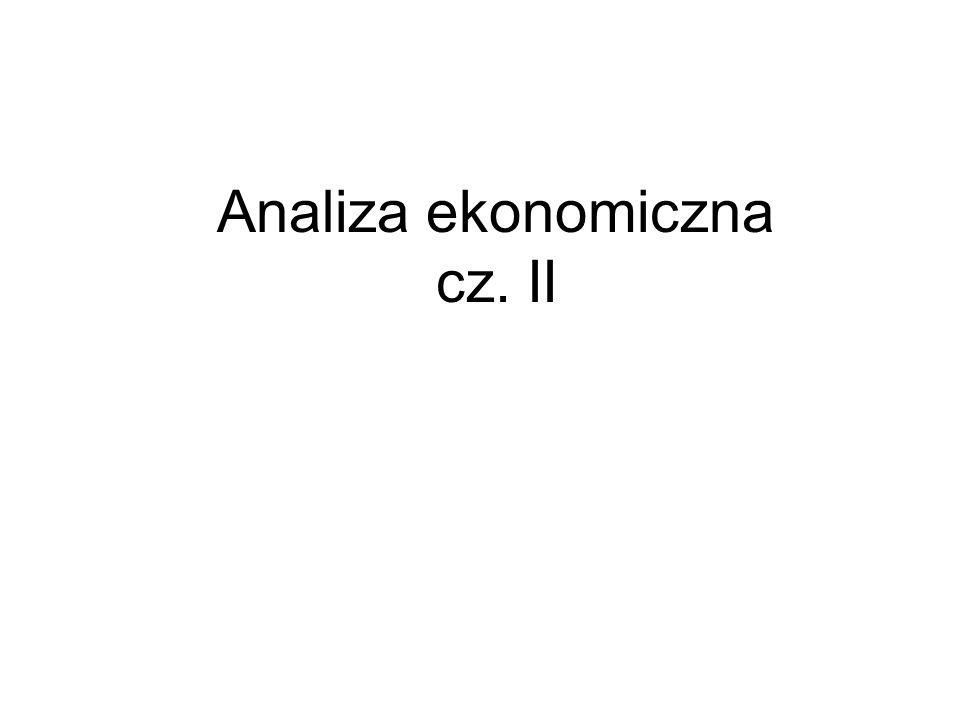 Analiza ekonomiczna cz. II