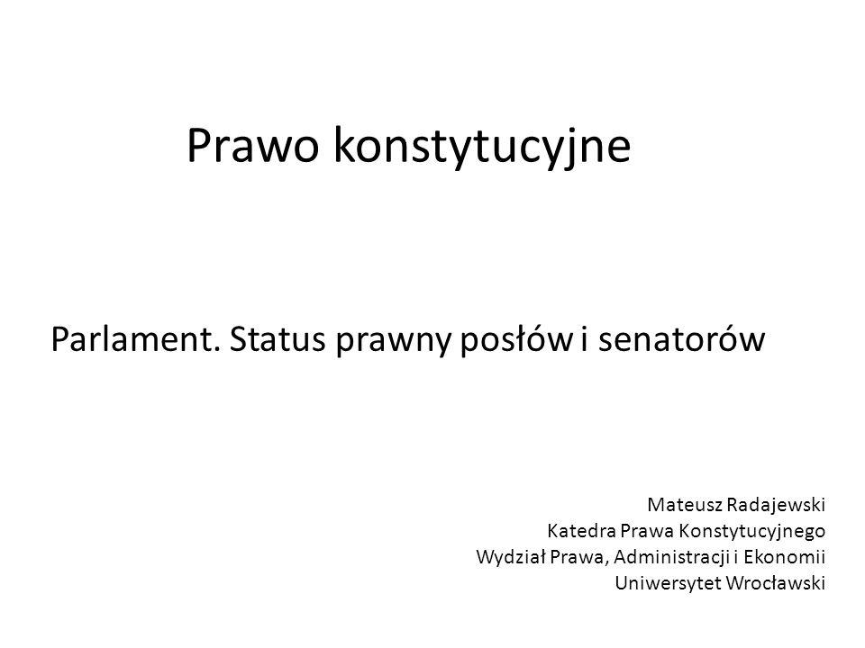 Immunitet materialny posła i senatora (art.105 ust.