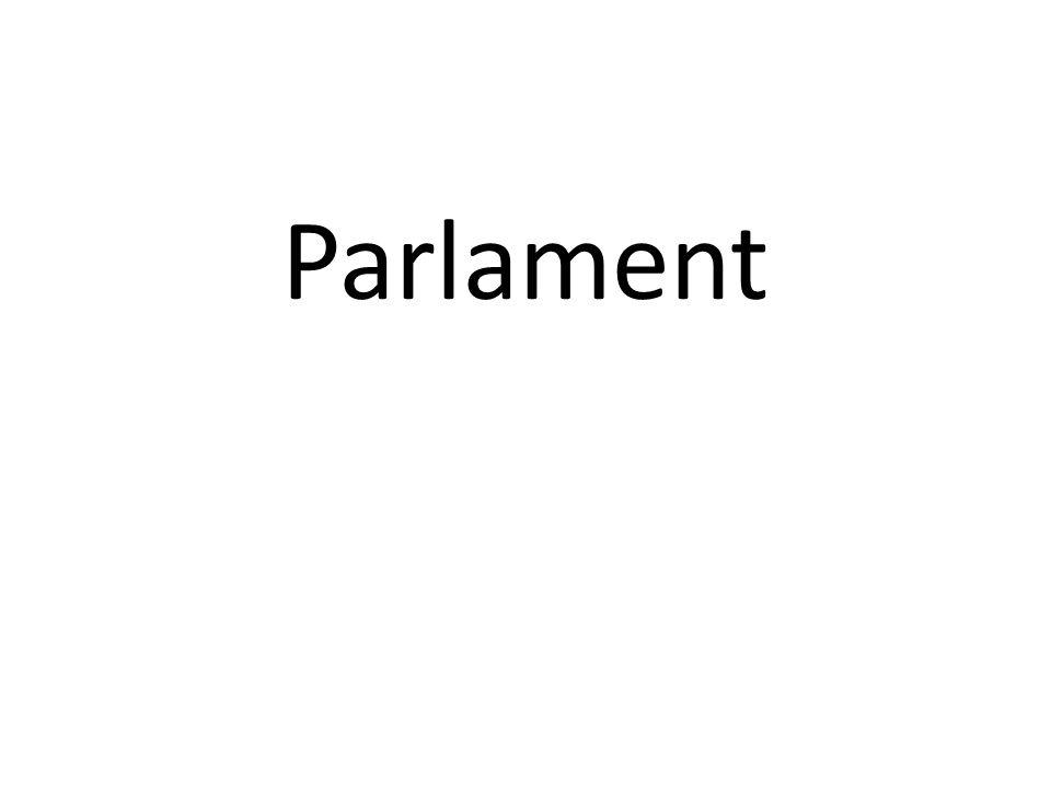 """ organ przedstawicielski, którego co najmniej jedna izba pochodzi w wyborów powszechnych  pełni funkcję ustawodawczą, powołuje niektóre organy i kontroluje administrację rządową Dwuizbowość (bikameralizm)  geneza: w państwach federalnych – druga izba reprezentacją jednostek składowych w państwach unitarnych – zabezpieczenie interesów stanów wyższych (zasiadających w drugiej izbie) w obliczu demokratyzacji powoływania pierwszej izby  rodzaje: symetryczna niesymetryczna także współcześnie druga izba (""""izba wyższa ) nie zawsze pochodzi z wyborów powszechnych"""