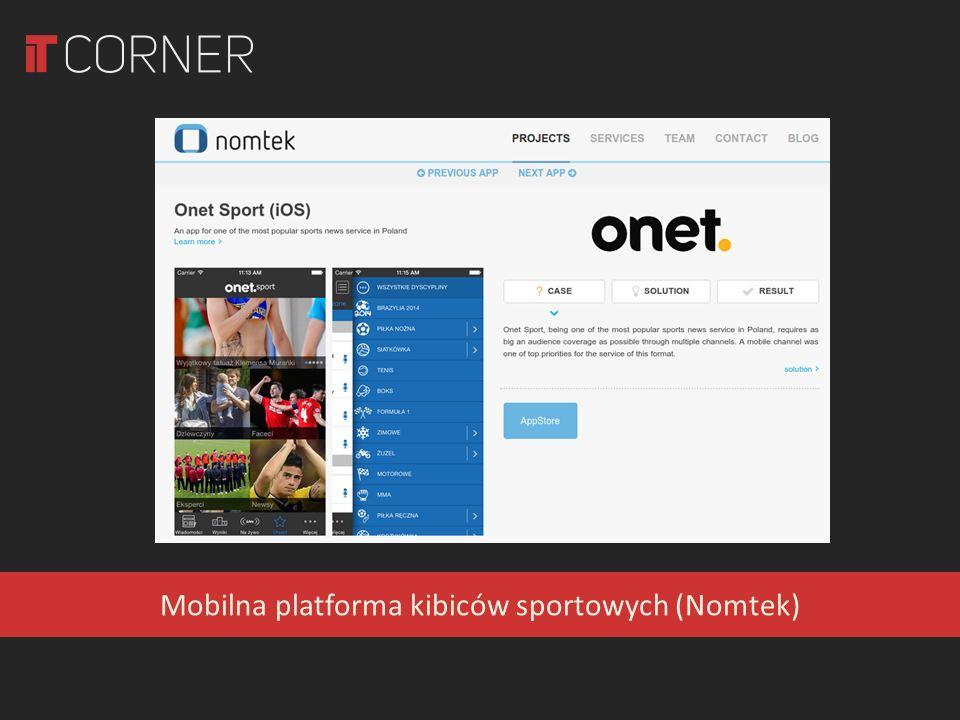 Mobilna platforma kibiców sportowych (Nomtek)