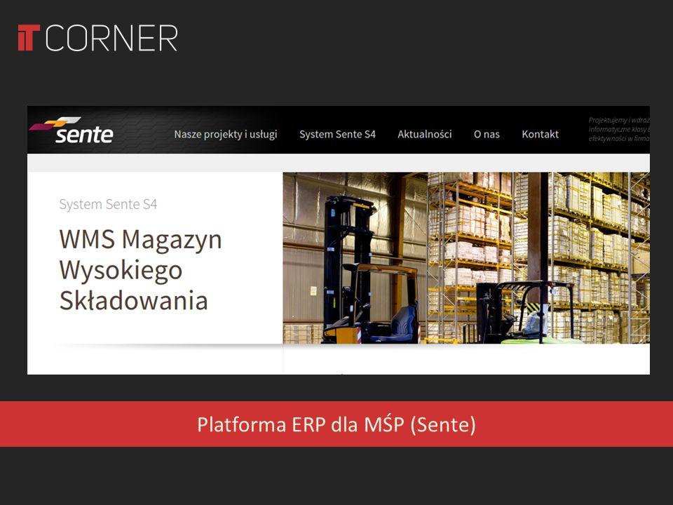 Platforma ERP dla MŚP (Sente)