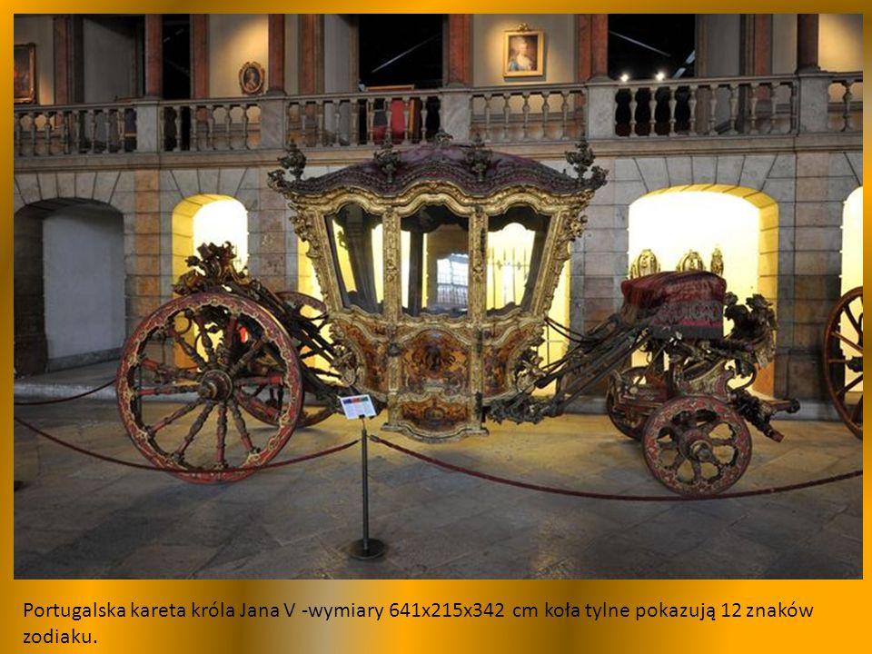 Kareta MARIA FRANCISCA BENEDITA, druga poł.XVIII w., pojazd ceremonialny, zbudowana w 1777 r.
