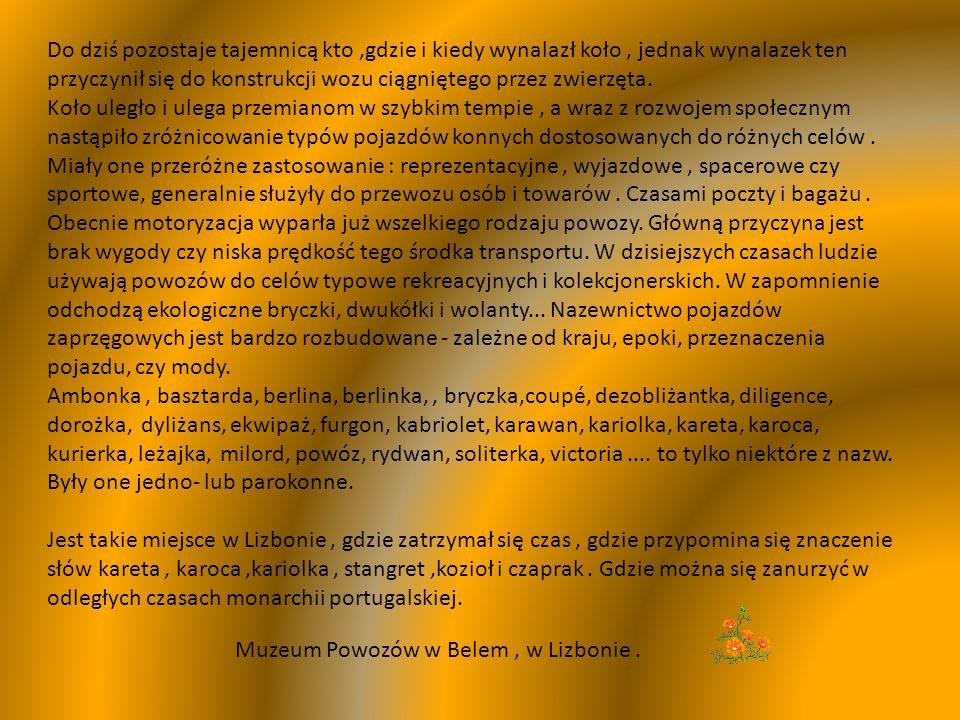 Muzeum Powozów LIZBONA
